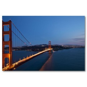Αφίσα (φώτα, θάλασσα, γέφυρα, αυτοκίνητα, βουνά)